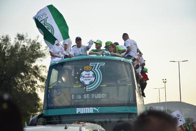 Robert Dante Siboldi durante el desfile de campeón del Clausura 2018.
