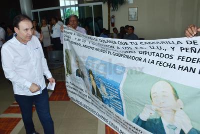 Alfonso Durazo a su llegada.