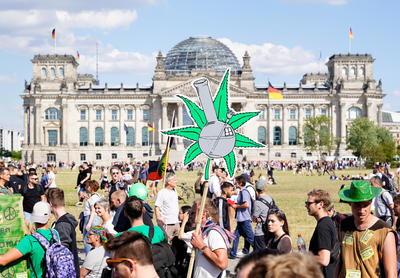 La marihuana unió a miles de personas en Berlín.