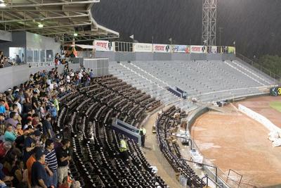 Así se vivió la tormenta en el estadio.