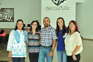 13082018 Rosario Chávez, Angélica Ruiz, Carlos Hernández, Mary Veliz y Ma. Paz Badillo.