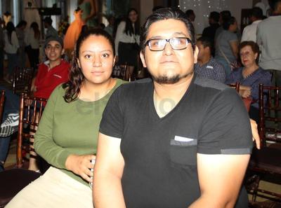 Hazael Almaguer y Cecilia Gómez.