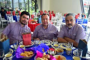 15082018 EN RECIENTE EVENTO.  Miguel Ángel Carillo, Germán Vargas y Víctor Félix.