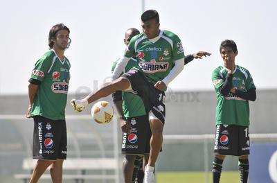 Ludueña durante los entrenamiento del Santos Laguna en las canchas anexas al Estadio Corona en el Territorio Santos Modelo.