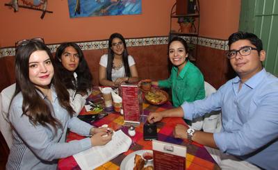Natalia, Harold, Galilea, Alondra y Eduardo.