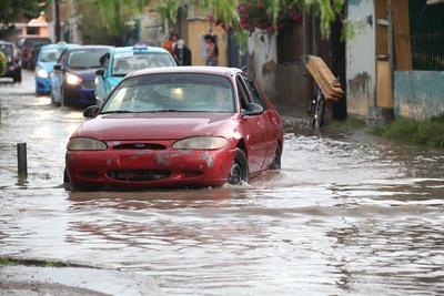 Las lluvias en la capital de Durango provocaron afectaciones en la ciudad.