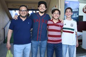18082018 Andrés, Alberto, Luis y Eduardo.