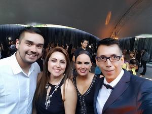 18082018 EN AMENA VELADA.  Juan Diego Hinojosa, Cintya Rodríguez, Norma Duarte y Pineda Damián.