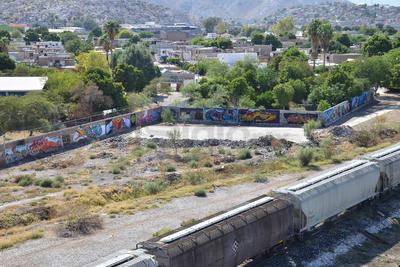 """El Teleférico de Torreón dio a conocer los nombres de los ganadores del concurso de grafiti """"El Tren"""", que se desarrolló el pasado fin de semana."""
