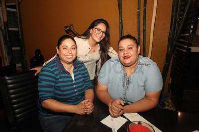 Guadalupe Rosales, Michelle Mendoza y Claudia Terán.