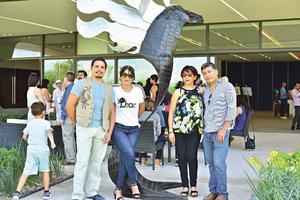 24082018 EXPO PICTóRICA.  José Luis Ponce, Elizabeth, Patricia y Javier.
