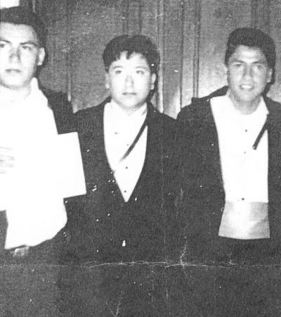 26082018 Osvaldo, Raúl y Ricky en concurso de rondallas en 1995.
