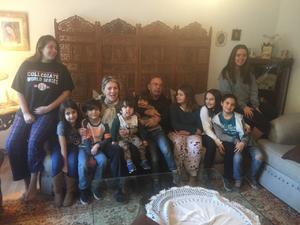 28082018 Manin con sus nietos: Andrés y Marla.