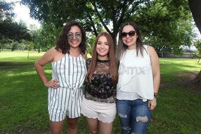 Daniela Nuñez, Cinthia González y Lizeth Jiménez.