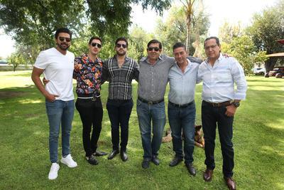 Juan José Rosas, Javier Elizondo Jr., Miguel Elizondo, Elías Bechelani y Martín Martínez.