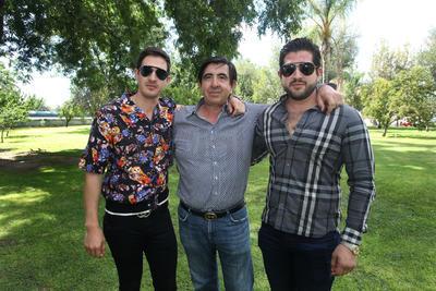 Javier Elizondo, Miguel Elizondo y Javier Elizondo jr.