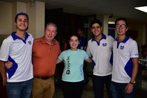 30082018 Chuy, José Manuel, Andrea, Luis y Carlos.