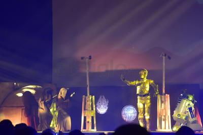 Se hizo una representación de la mítica película de George Lucas, la Star Wars.