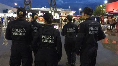 Dispositivo de seguridad en la Feria de Torreón.
