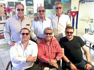 02092018 ENTRE AMIGOS.  Carlos Ávila, Roberto Arellano, Neto Bracho, Willy Betancourt, Víctor Berna y Pepe Bracho.