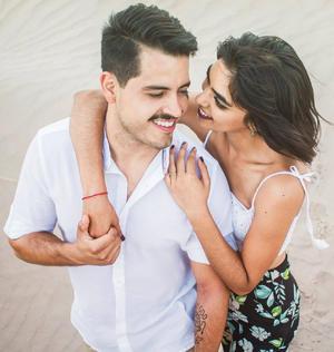 02092018 Felipe González y Diana Rocha contraerán matrimonio mañana en las hermosas playas de Punta Mita, Nayarit. - Michel Morán.