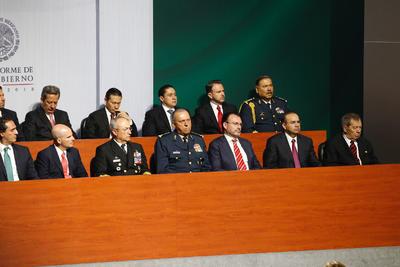 Peña Nieto estuvo acompañado de su Gabinete.