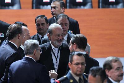 El empresario Carlos Slim estuvo presente.