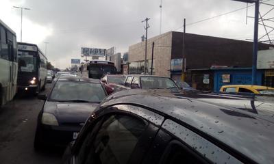 El tráfico se paralizó.
