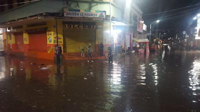 Inmediaciones del Ex Cuartel Juárez y el oriente de la ciudad, donde el agua subió hasta 60 centímetros.