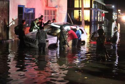 Según la Comisión Nacional del Agua, pasadas las siete de la tarde, la precipitación pluvial fue de más de 50 mm.