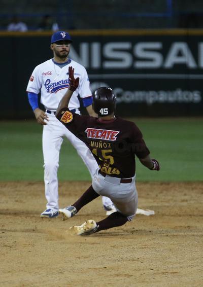 El Unión Laguna se quitó la blanqueada durante la apertura del cuarto inning, ligando dobletes Bárbaro Cañizares y Daniel Mercado