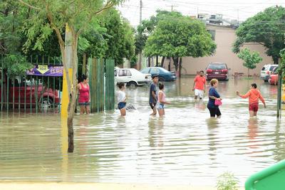 Las lluvias nuevamente causaron estragos en Torreón.