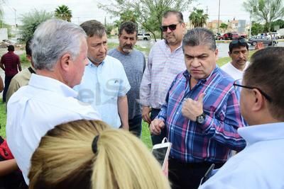 Zermeño y Riquelme se reunieron en zonas afectadas.