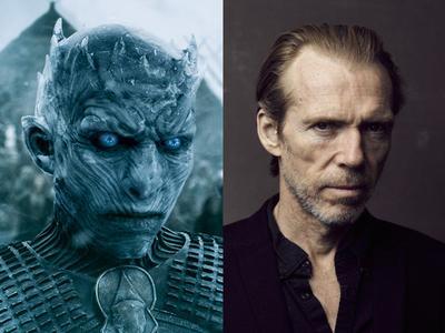 Richard Brake en Game of Thrones  Apenas y podríamos reconocer al actor británico debajo de todo ese 'azul'. Brake tiene en su filmografía títulos como Munich, Cold Mountain, Doom, Batman inicia, Thor: The dark world o Kingsman. Tomo el papel de Night King en la cuarta y quinta temporada de la serie de HBO.