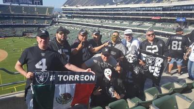 13092018 Raiders Comarca Lagunera en Oakland, California.