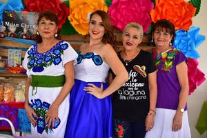 13092018 DESPEDIDA DE SOLTERA.   María Fernanda Orozco Ponce acompañada de Nena, Susana y Teresa.