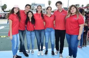 14092018 FESTIVAL DE ROBóTICA.  Laura, Carlos, Miranda, Alexa, Daniela, Emiliano y Paola.