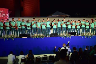 Laguneros dan el Grito de Independencia