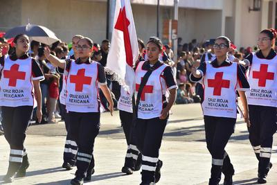 Rescatistas de la Cruz Roja participaron.