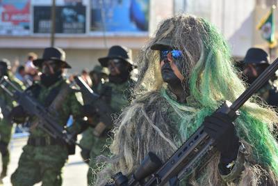 Elementos de las Fuerzas Armadas participaron.
