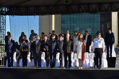 Fue minutos antes de las 9:00 horas de este domingo que dio inicio dicho evento, el cual estuvo encabezado por el alcalde Jorge Zermeño Infante, quien lo presenció desde un entarimado que se colocó en la explanada de la Plaza Mayor.