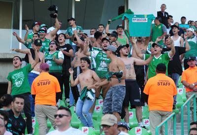 Aunque fueron pocos, los aficionados de León se hicieron presentes en el TSM.