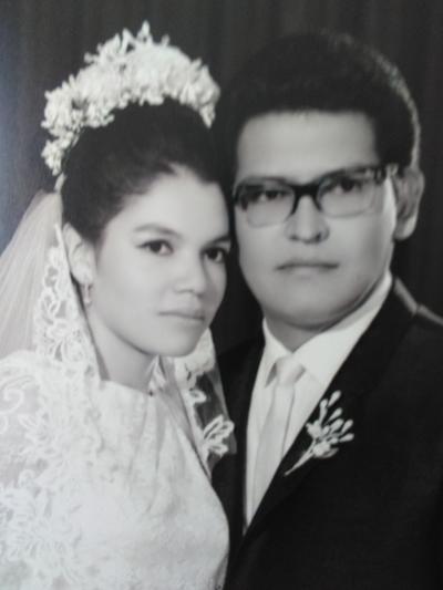 16092018 Ma. Magdalena Vargas Guerrero y Salvador Enrique Morales Pinal (quien falleció el 25/06/2014), contrajeron matrimonio el 14 de septiembre de 1968, en Cd. Lerdo, Dgo.