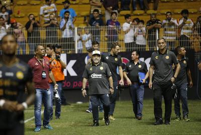 Maradona debuta como DT de Dorados y el 'Gran Pez' golea
