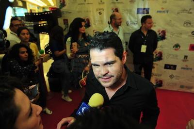 Marco, encargado de dar vida al Chapo en la serie de Netflix, dijo que se sentía muy emocionado de estar en Torreón.