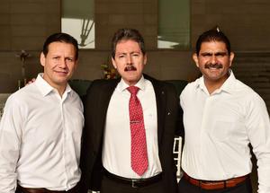 19092018 Gerardo de Santiago, Sergio Rodríguez y Roberto Badillo.