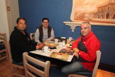 Federico Moreno, Rogelio Alonso y Juan Martín Gutiérrez.