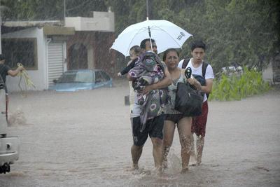 Lluvias afectan a Sonora y Sinaloa