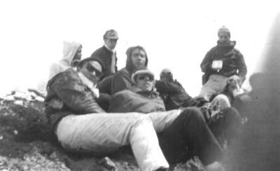 23092018 Grupo de alpinistas en la cima del Volcán Popocatépetl, hace más de cuatro décadas.