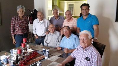 23092018 Reunion de locutores en el cumpleaños de Alejandro Rodríguez (Quirino): Sr. Julio Salas, El Rasca, Miguel Salas, Eugenio, Camilo Martínez y Manlio Godoy